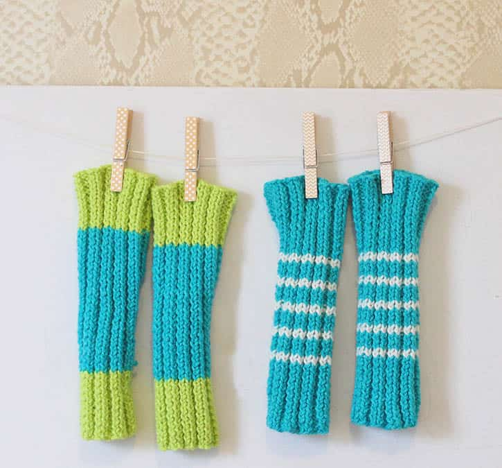 Baby Leg Warmers Knitting Pattern by Gina Michele