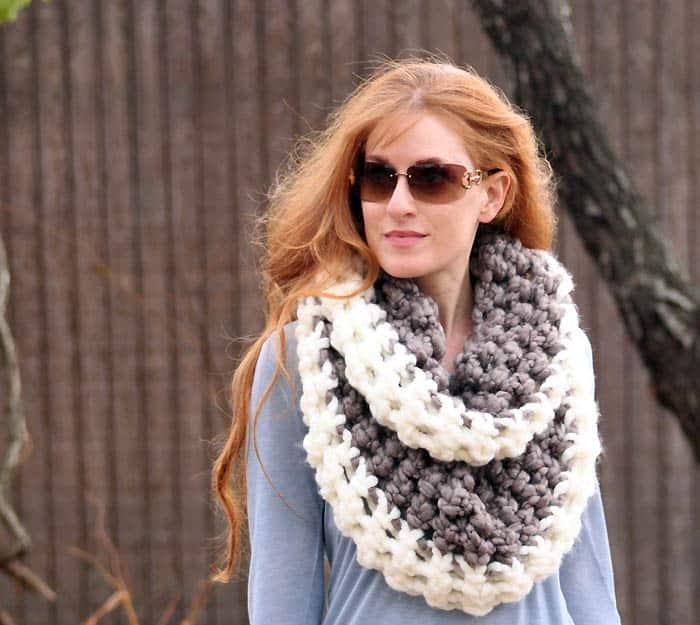 Chunky Loop Scarf Crochet Pattern Gina Michele