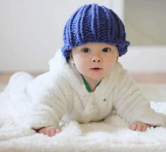 Easy Baby Beanie Knitting Pattern