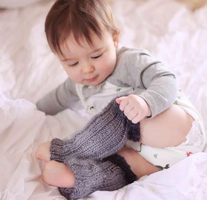 Baby Ombré Leg Warmers Knitting Pattern