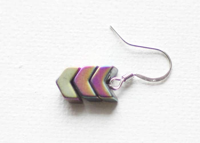 DIY Stone Arrow Earrings