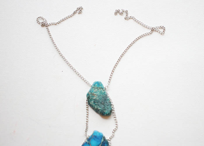 DIY Jasper Stone Lariat Necklace