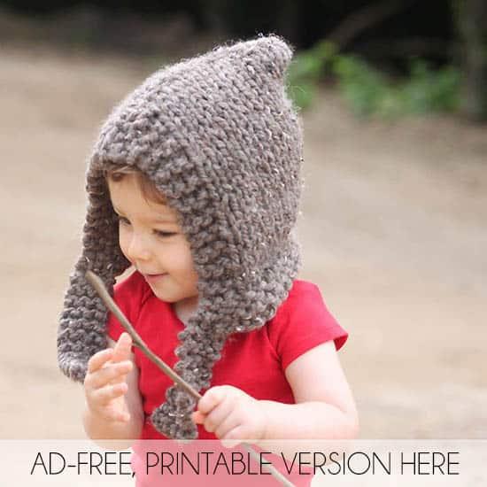 Child Woodland Hood Knitting Pattern Gina Michele