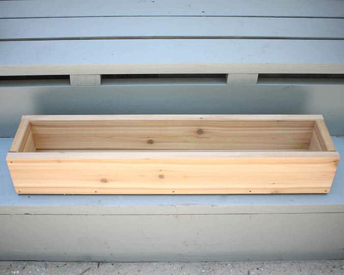 How to Build a Cedar Window Box for $20