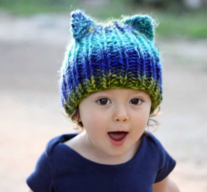 Toddler Bear Hat [knitting pattern]