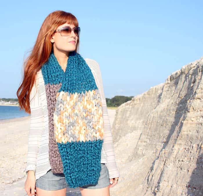 Jumbo Stripe Scarf [Knitting Pattern}