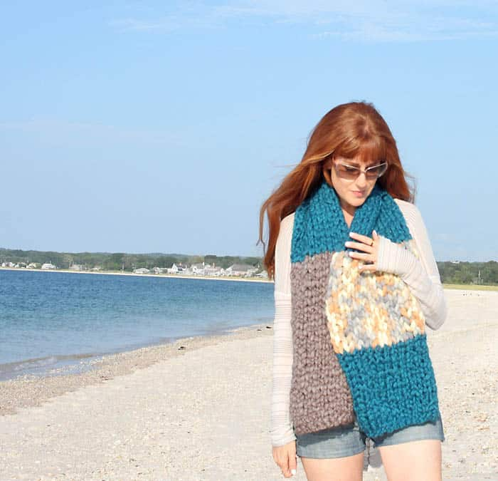 Jumbo Stripe Scarf [Knitting Pattern}