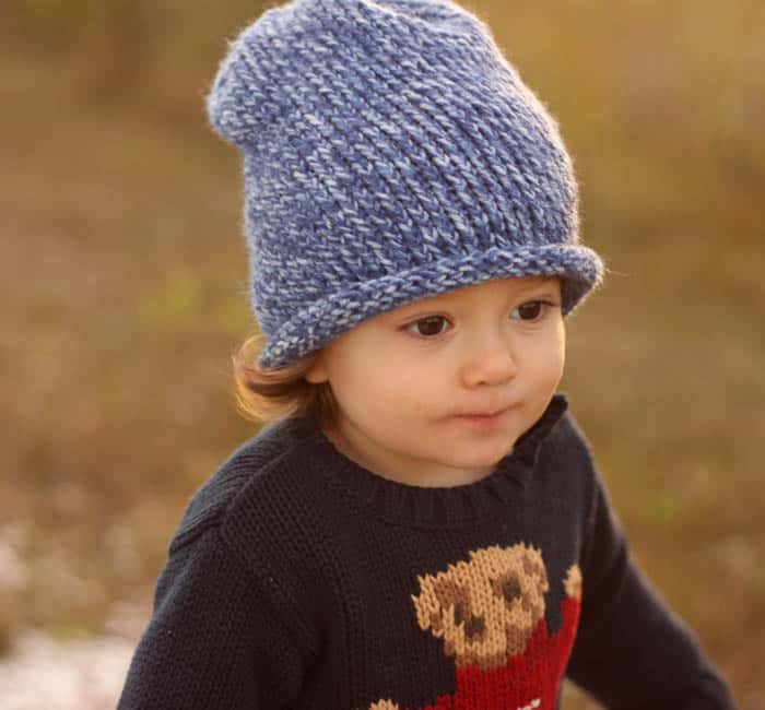 Free Toddler Slouch Beanie Knitting Pattern