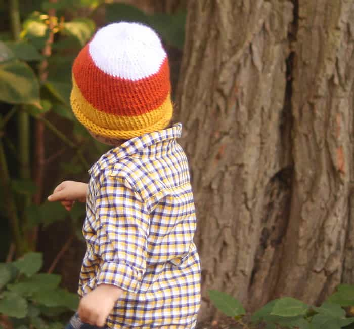 Baby Candy Corn Hat knitting pattern