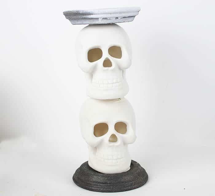 DIY Skull Candle Holder