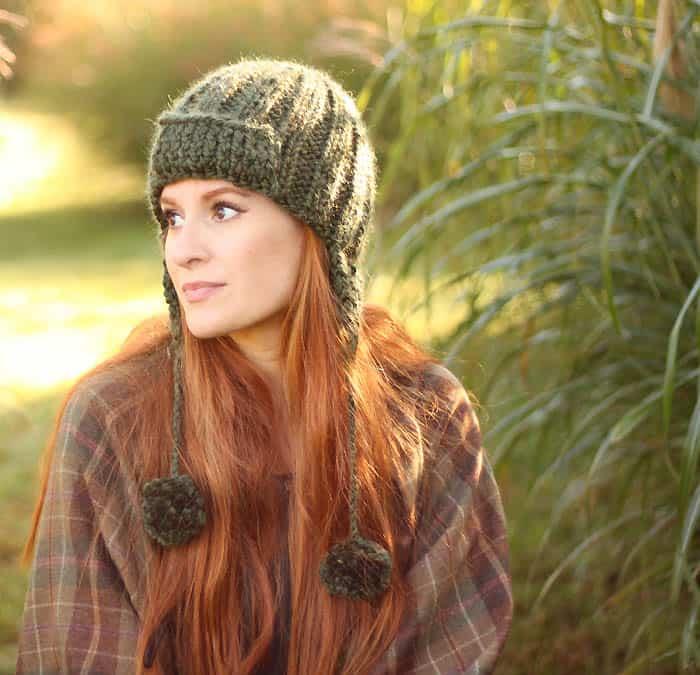 Trapper Hat free knitting pattern