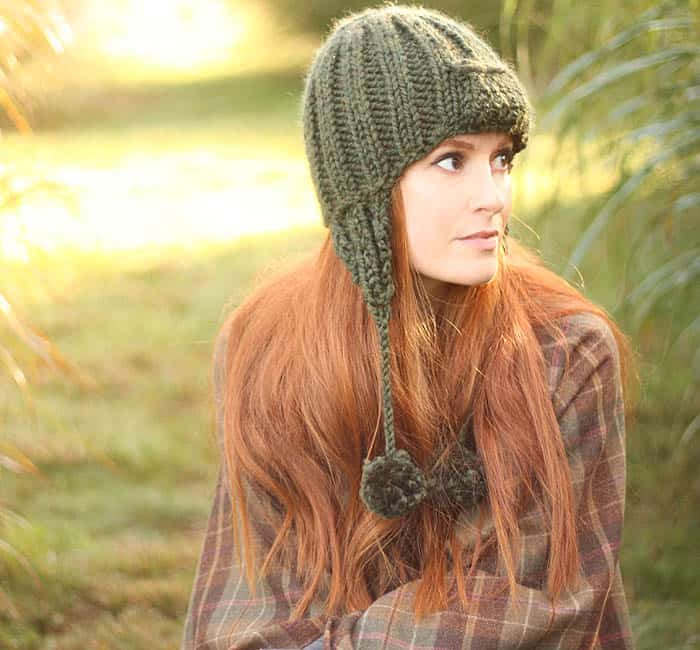 Trapper Hat free knitting pattern
