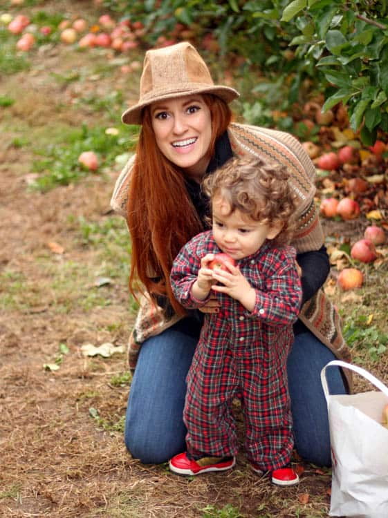 Apple Picking Family