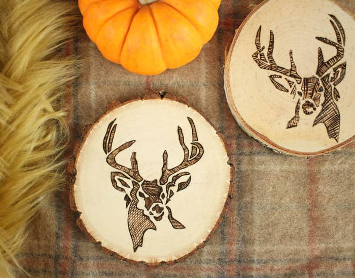 How to Make Woodburned Coasters- Great Handmade Hostess Gift!