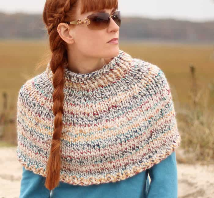 Fog Chaser Cape Knitting Pattern Gina Michele
