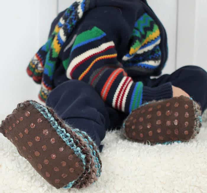 How to Make and Attach Non Slip Soles to Knitted Slippers