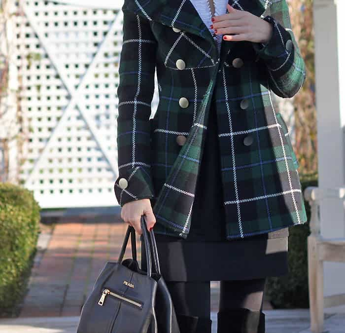 Winter Style- Plaid Coat