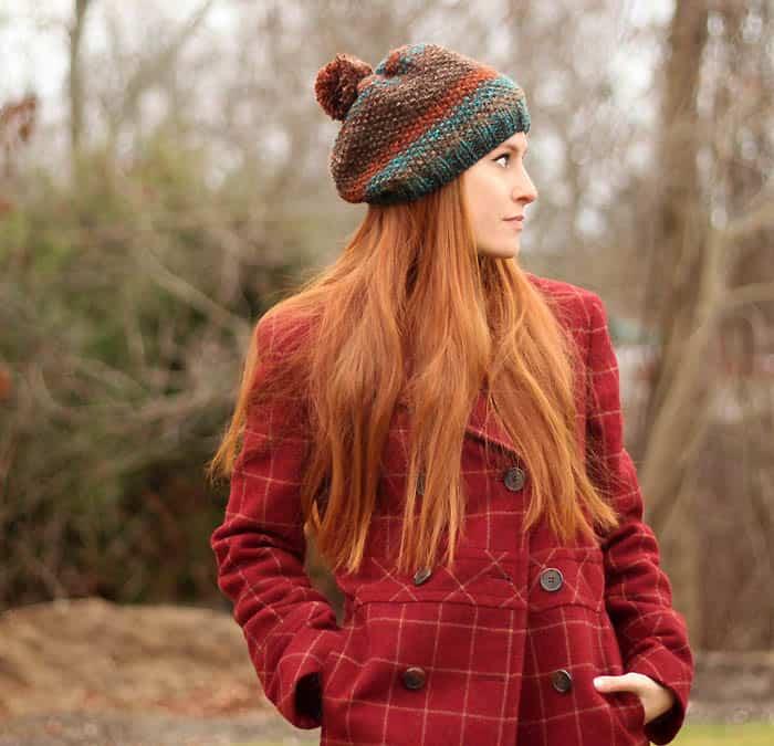 Seed Stitch Hat Knitting Pattern Gina Michele