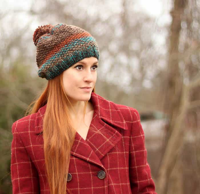 Seed Stitch Hat Free Knitting Pattern