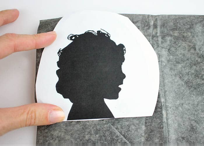DIY Painted Silhouette Christmas Ornaments