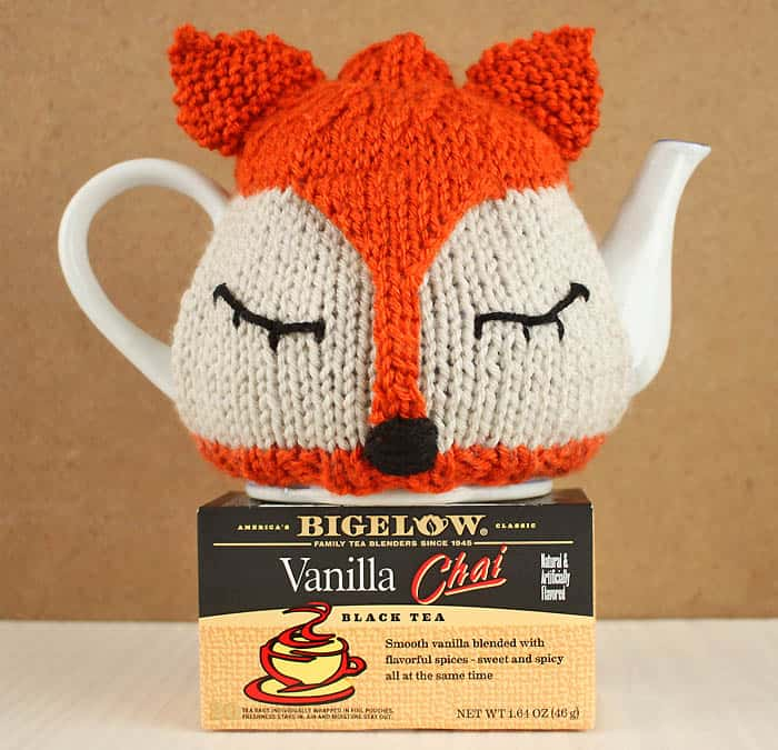 Fox Tea Cosy Knitting Pattern And Tea Proudly With Bigelow Tea