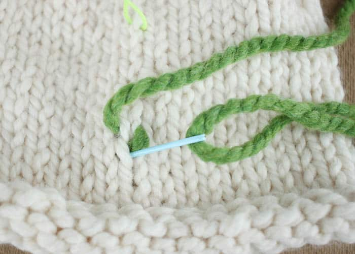 How to Embroider on Knitted Items