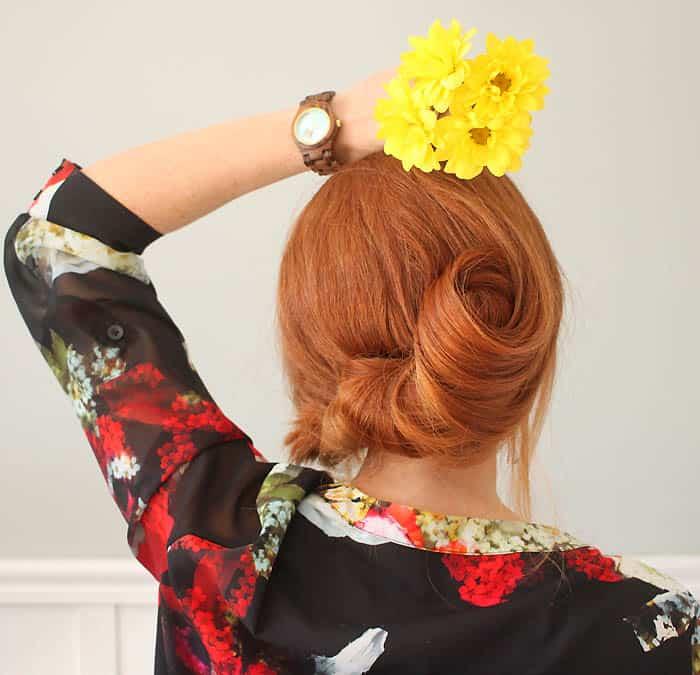 Easy Hairstyles for Long Hair- Banana Bun