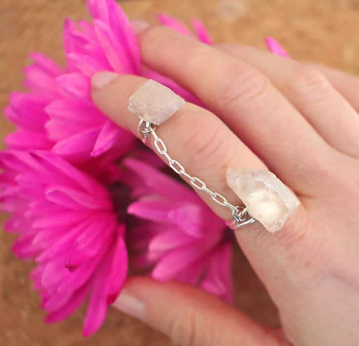 Crystal Connector Ring DIY by Gina Michele