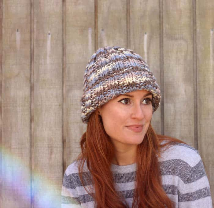 Flat Knit Hat Free Knitting Pattern Perfect For Beginners Gina