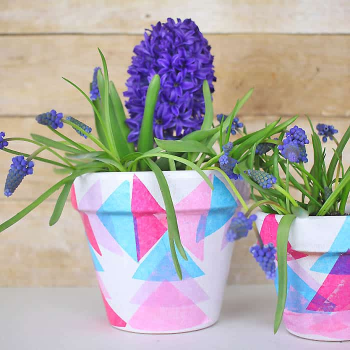 Decoupage Flower Pots DIY- Great Mother's Day Gift!