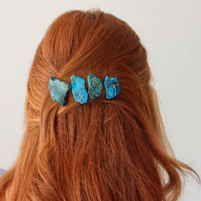 2 Minute Jasper Hair Pins DIY
