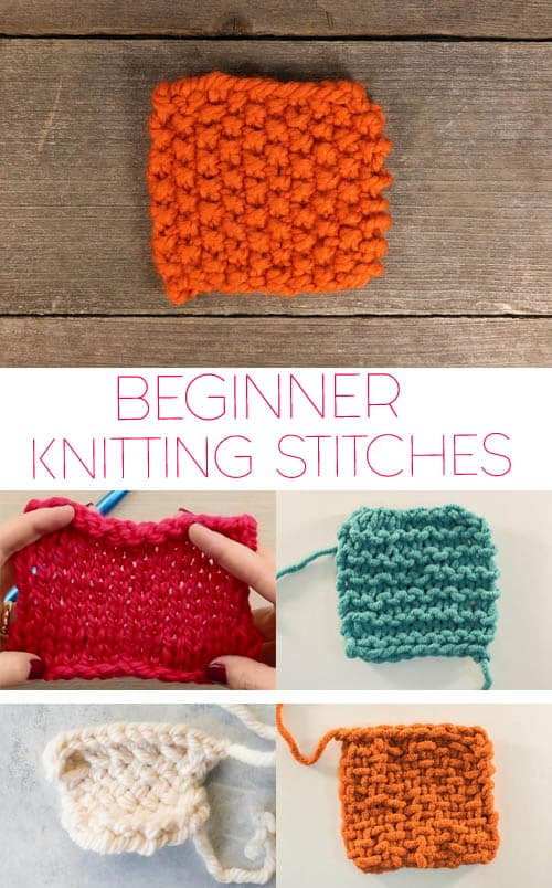 5 Basic Knitting Stitches For Beginners Gina Michele