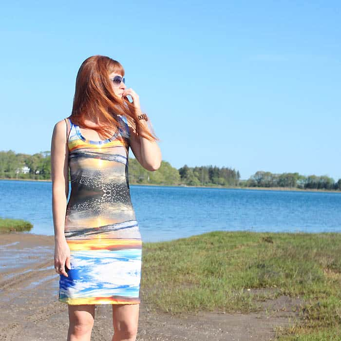 How to Sew a Dress Using a Tank Top as a Pattern