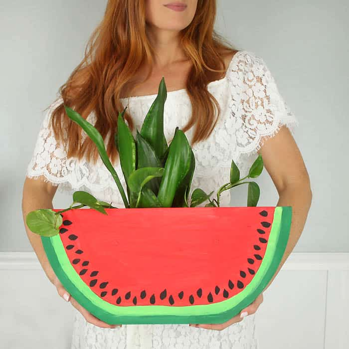 Watermelon Slice Planter DIY