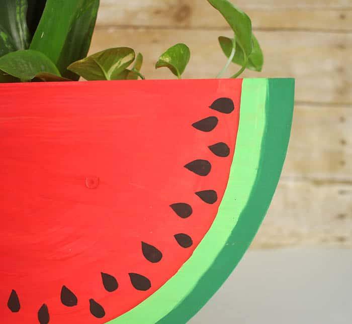 Watermelon Slice Planter DIY