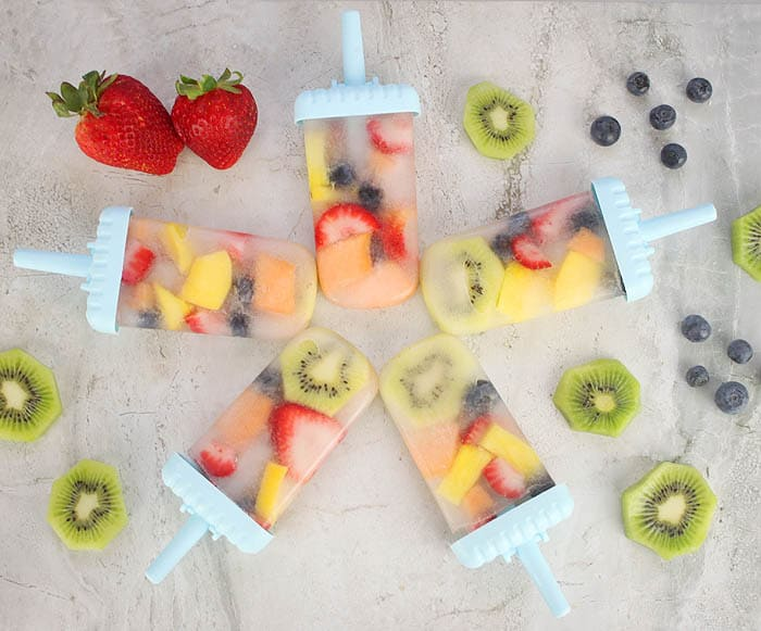 Coconut Water and Fruit Popsicles