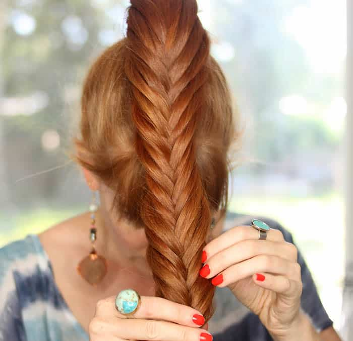 Easy Twisted Fishtail Pony Tutorial