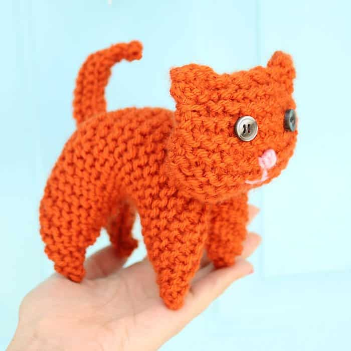 Easy Plush Cat Knitting Pattern Gina Michele
