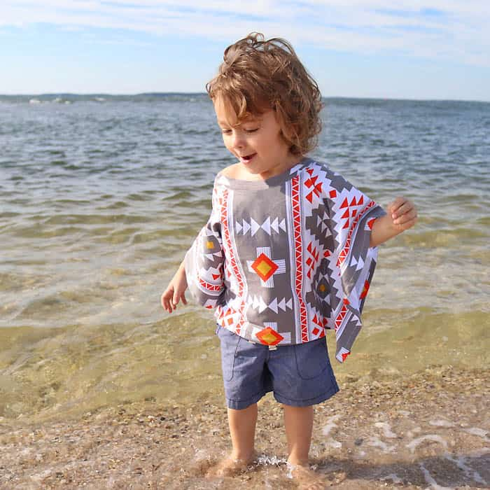 Super Easy Toddler and Kid's Beach Cover Up DIY