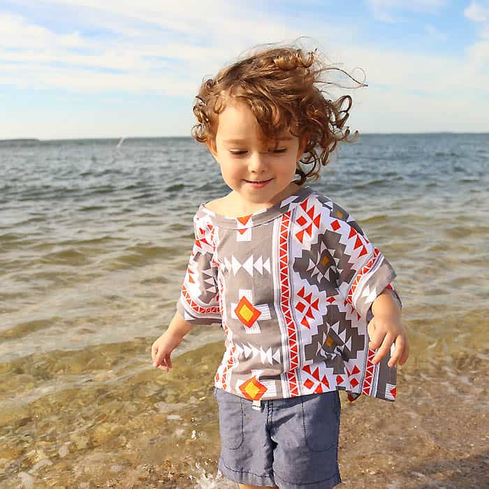 Toddler Kids Cover Up Free Sewing Pattern by Gina Michele
