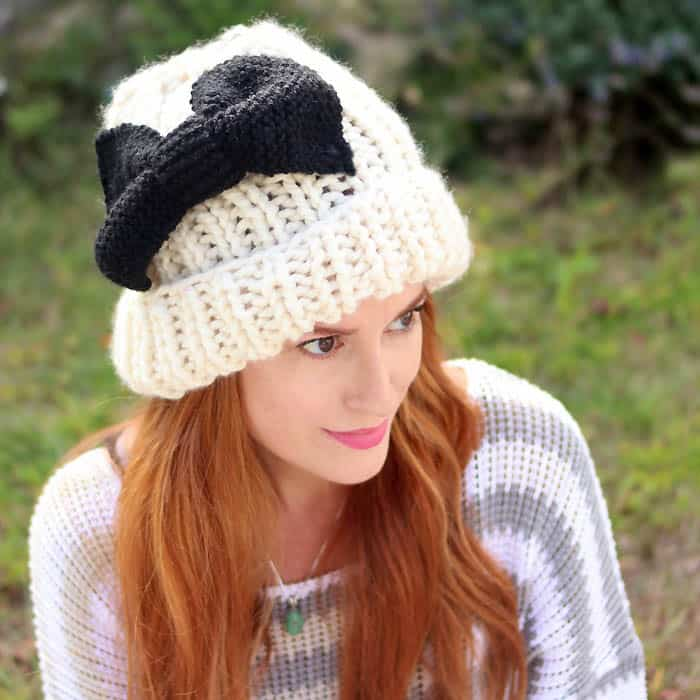 Eugenia Kim Bow Hat Free Knitting Pattern Gina Michele