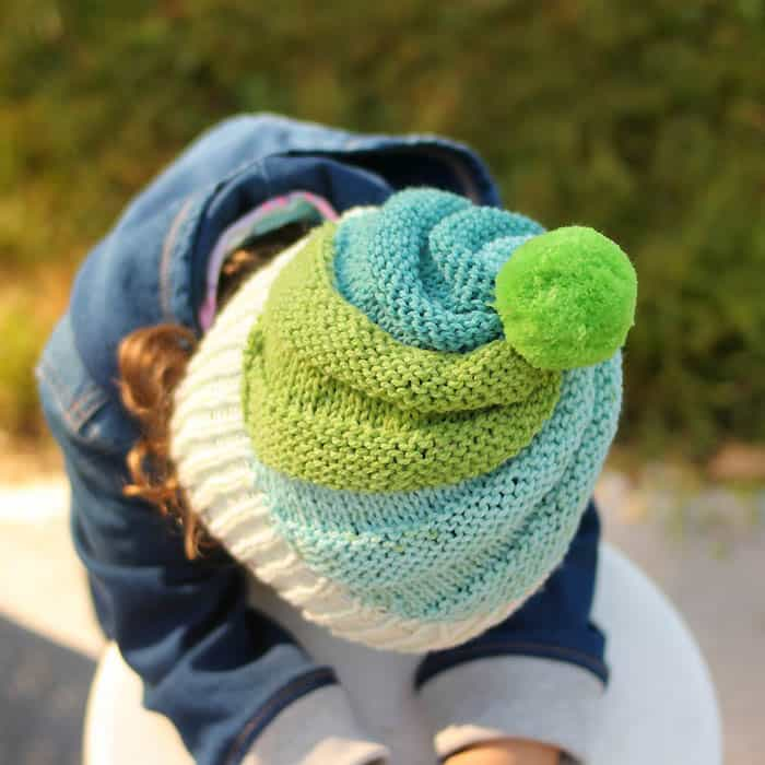 Super Easy Swirl Hat Knitting Pattern Gina Michele