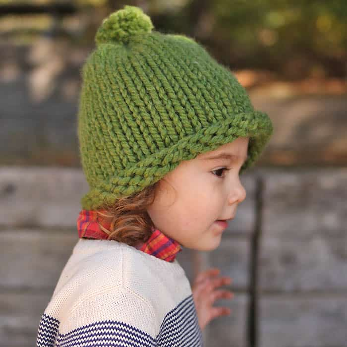 d4e21a94853b 1 Hour Baby   Kids Hat Knitting Pattern - Gina Michele