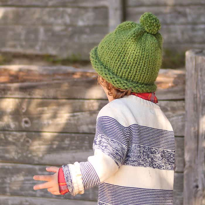 1 Hour Baby & Kids Hat Free Knitting Pattern