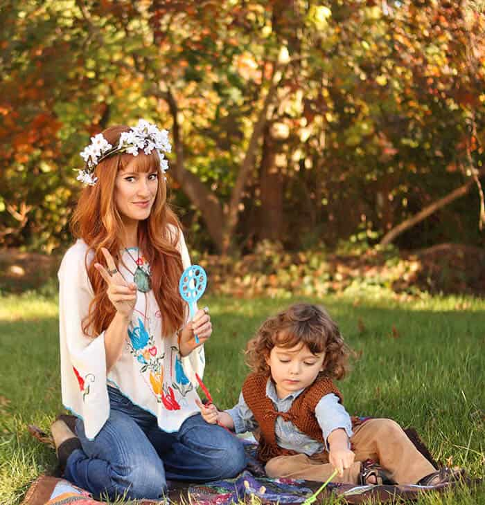Family hippie halloween costume