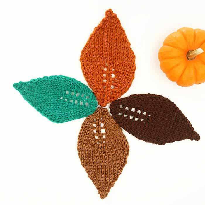 How to knit a leaves by Gina Michele