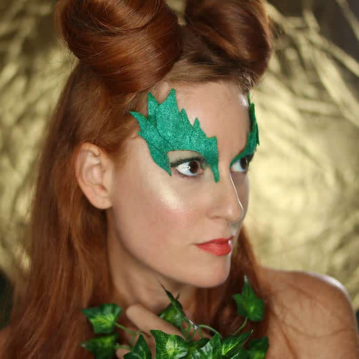 Poison Ivy Costume Eye Mask DIY