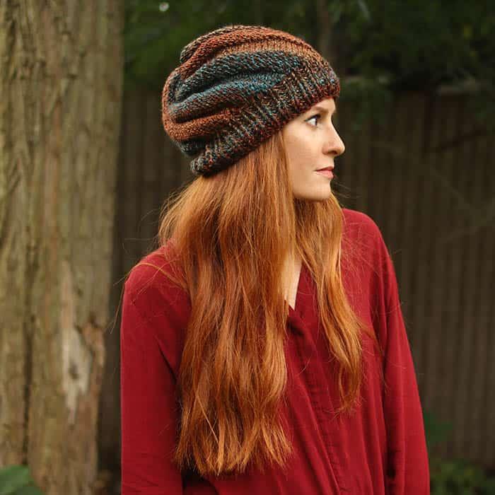 Flat knit hat beginner knitting pattern by Gina Michele bdbe08cfda0