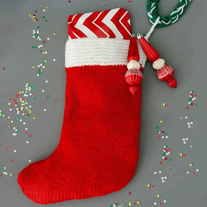 Free Christmas Stocking Knitting Pattern