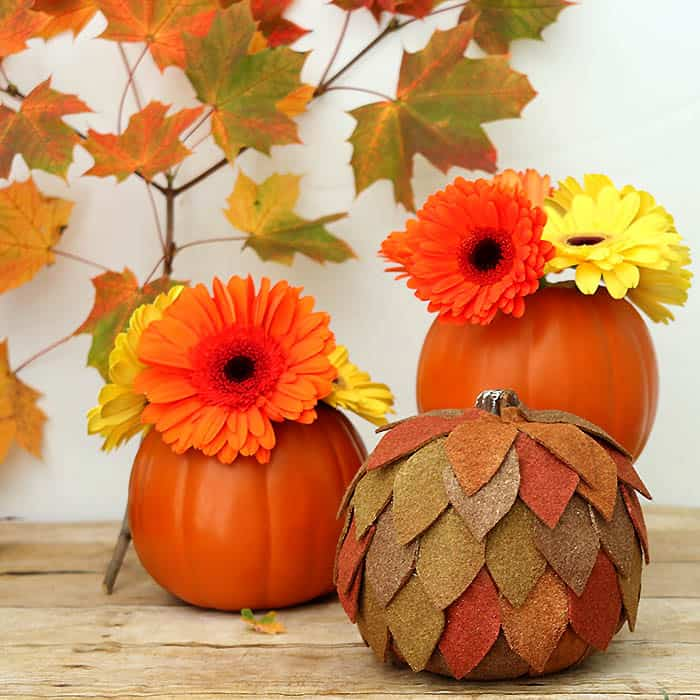 Felt Pumpkin Thanksgiving Centerpiece DIY